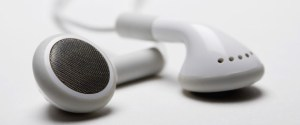 Close up of earbuds
